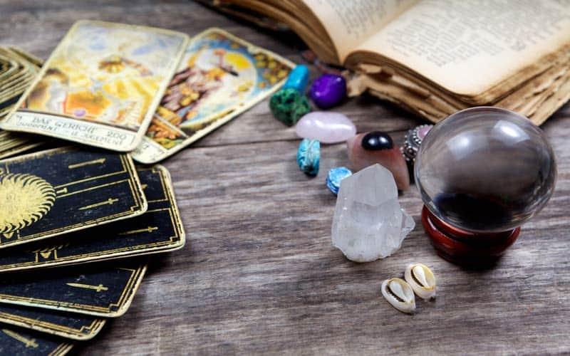 Tarot Karta - Osmica Diskova